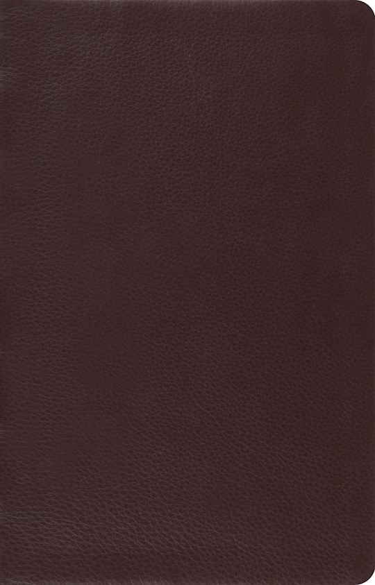 ESV Large Print Thinline Reference Bible-Brown Top Grain Leather | SHOPtheWORD