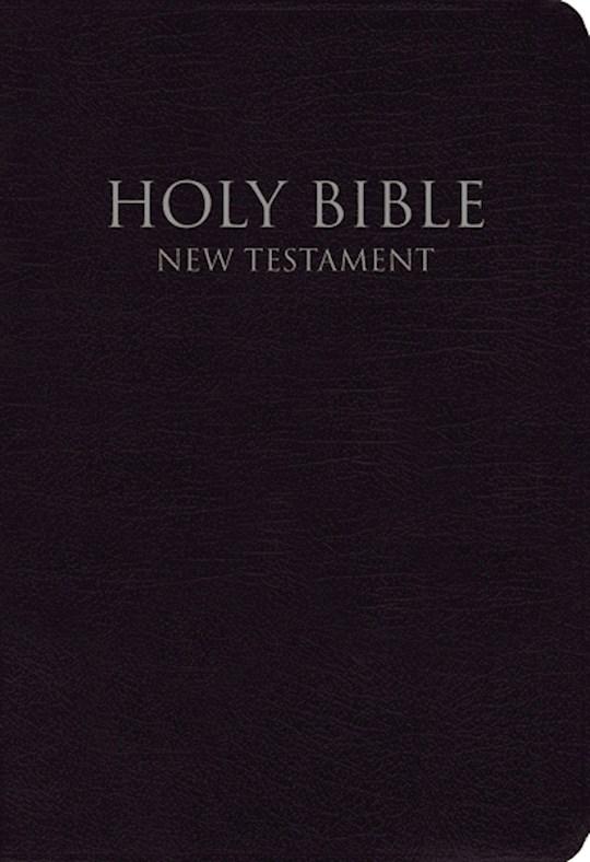 NIV Shirt Pocket New Testament-Black Leather-Look | SHOPtheWORD