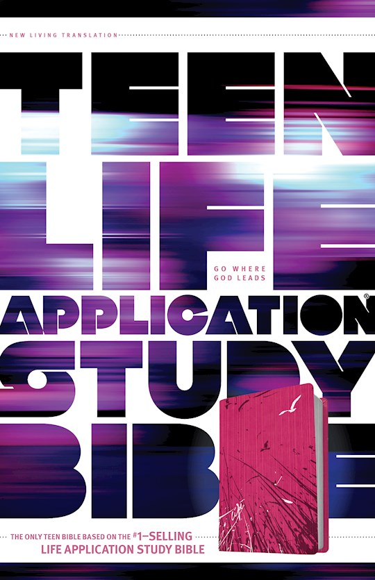 NLT Teen Life Application Study Bible-Pink Fields LeatherLike | SHOPtheWORD