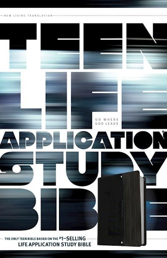 NLT Teen Life Application Study Bible W/Pocket-Black/Gray LeatherLike | SHOPtheWORD