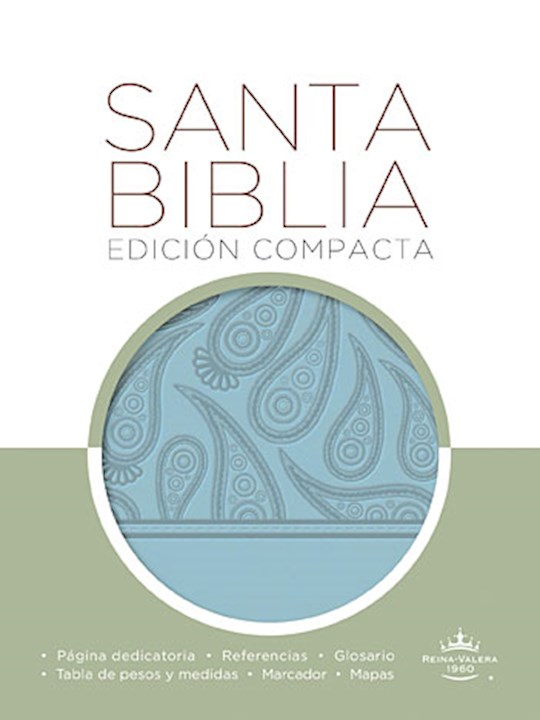 Span-RVR 1960 Compact Bible-Aquamarine LeatherSoft | SHOPtheWORD
