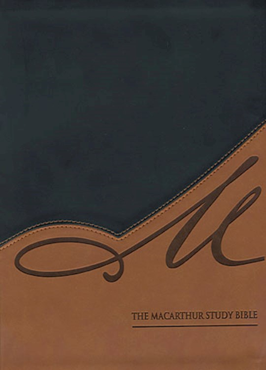 NASB MacArthur Study Bible-Black/Terracotta LeatherSoft Indexed | SHOPtheWORD
