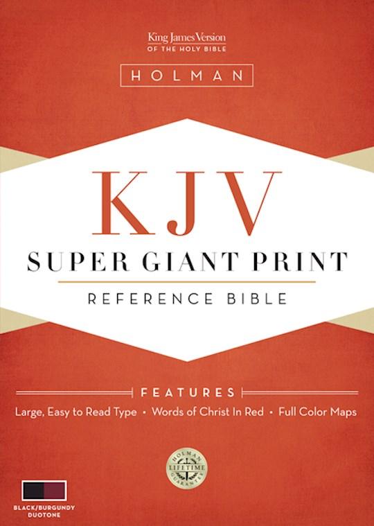 KJV Super Giant Print Reference Bible-Black/Burgundy LeatherTouch | SHOPtheWORD