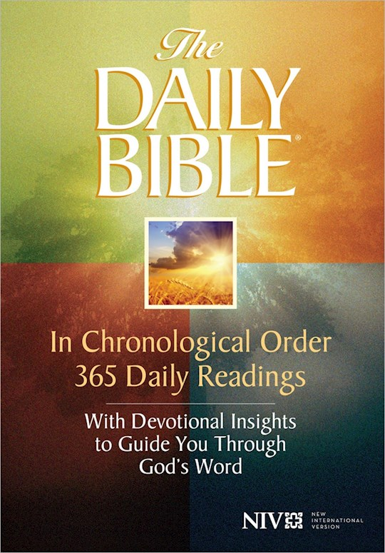 NIV Daily Bible In Chronological Order-Softcover   SHOPtheWORD