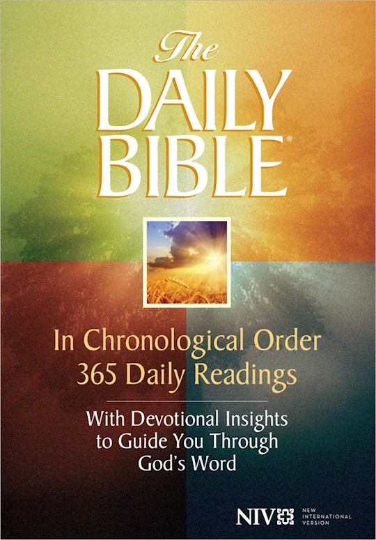 NIV Daily Bible In Chronological Order-Hardcover   SHOPtheWORD