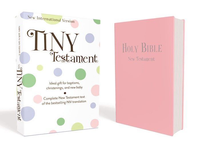 NIV Tiny New Testament-Pink Leather-Look | SHOPtheWORD