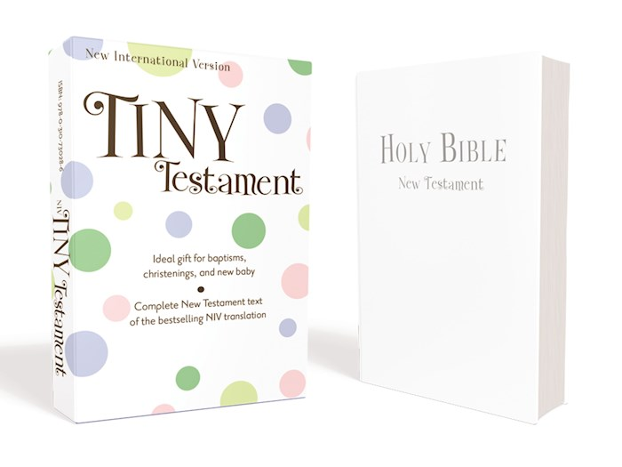 NIV Tiny New Testament-White Leather-Look | SHOPtheWORD