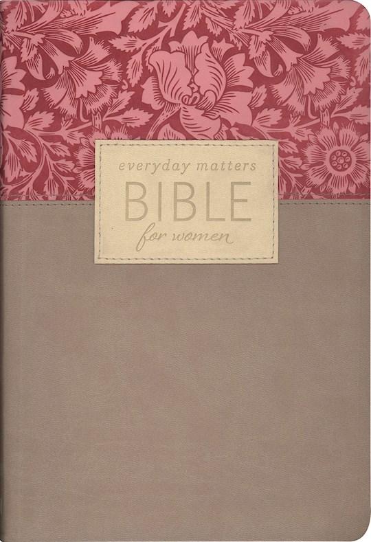 NLT Everyday Matters Bible For Women-Rose/Khaki Flexisoft | SHOPtheWORD