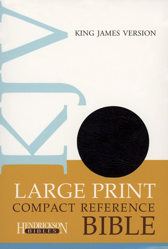 KJV Large Print Compact Reference Bible-Black Flexisoft (Value Price) | SHOPtheWORD