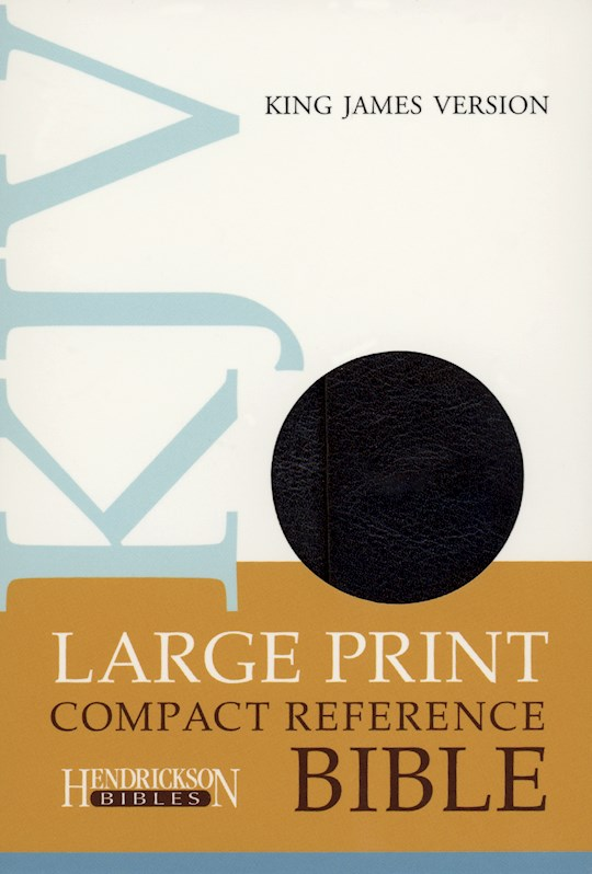 KJV Large Print Compact Reference Bible-Black Flexisoft w/Magnetic Flap (Value Price)   SHOPtheWORD