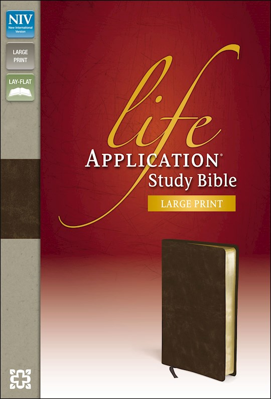 NIV Life Application Study Bible/Large Print-Distressed Brown Bonded Leather | SHOPtheWORD