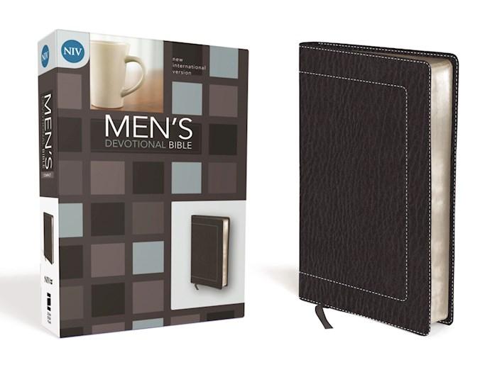 NIV Mens Devotional/Compact-Black Duo-Tone | SHOPtheWORD