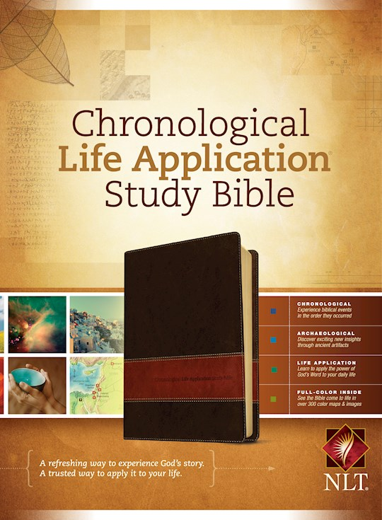 NLT Chronological Life Application Study-Brown/Tan TuTone | SHOPtheWORD