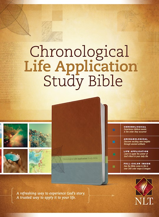 NLT Chronological Life Application Study Bible-Brown/Green/Dark Teal TuTone | SHOPtheWORD