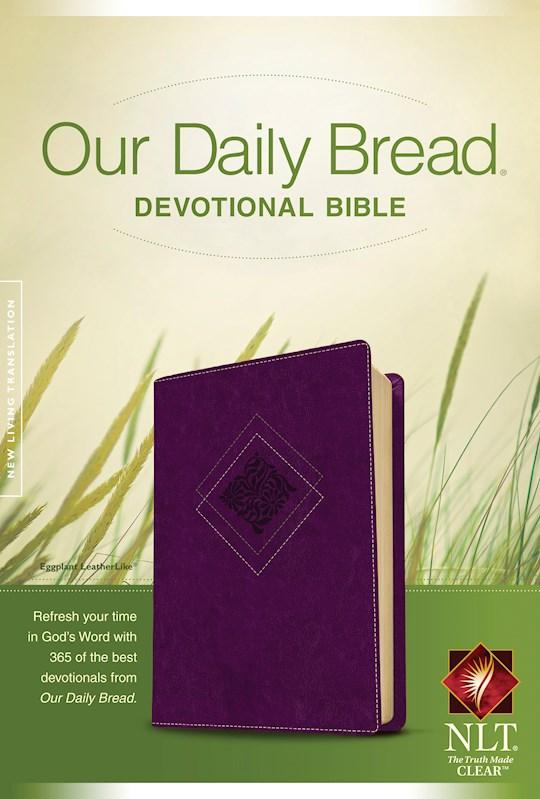 NLT Our Daily Bread Devotional Bible-Purple TuTone | SHOPtheWORD
