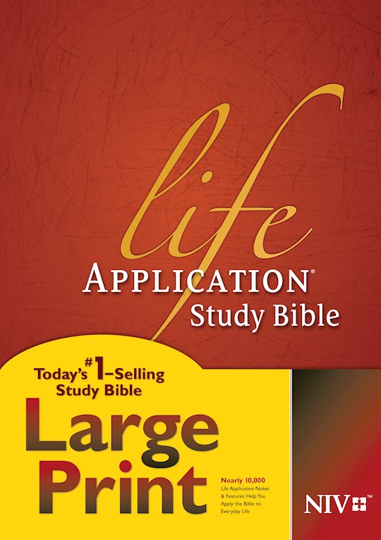 NIV Life Application Study Bible/Large Print-Hardcover (Not Available-Out Of Print) | SHOPtheWORD