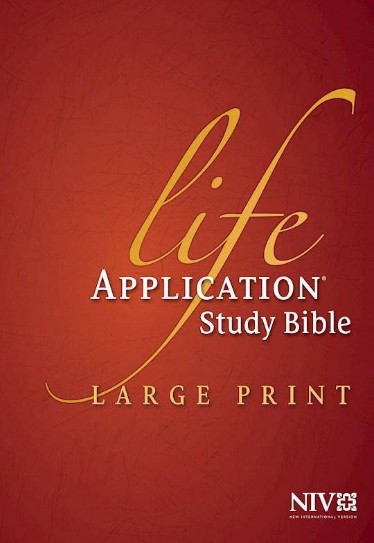 NIV Life Application Study Bible/Large Print-Hardcover Indexed | SHOPtheWORD
