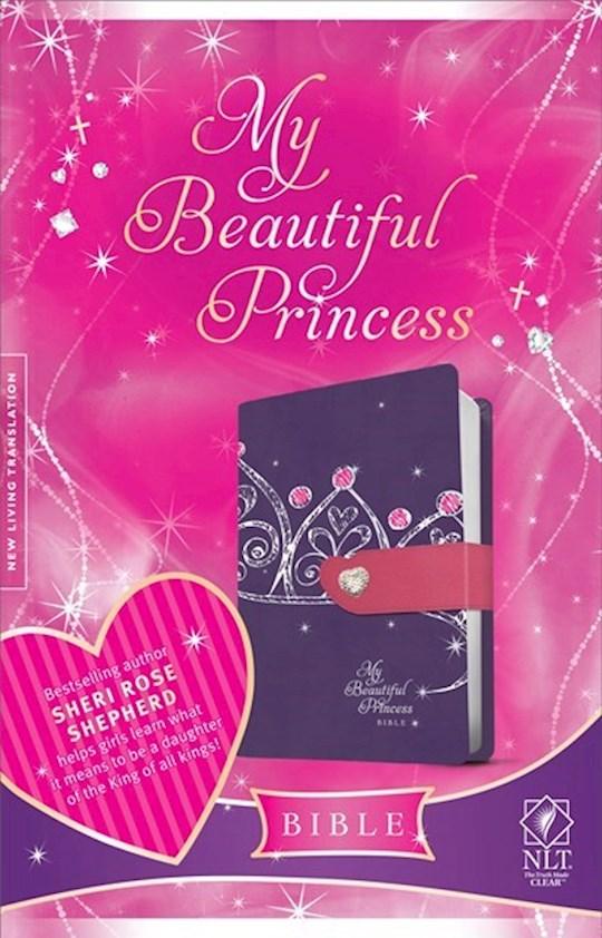 NLT My Beautiful Princess Bible-Purple Crown/Pink TuTone | SHOPtheWORD