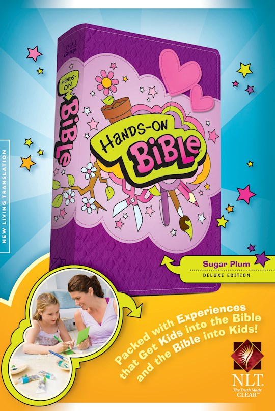 NLT Hands-On Bible (Updated Edition)-Sugar Plum LeatherLike | SHOPtheWORD