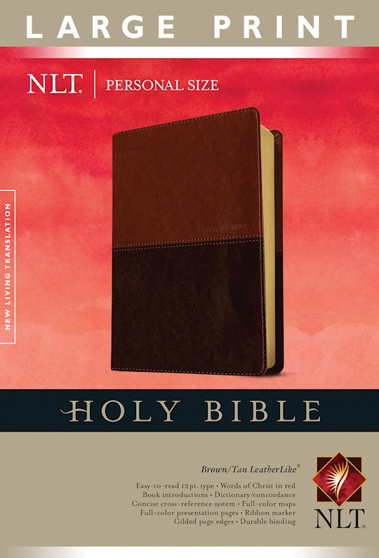 NLT Personal Size Large Print Bible-Brown/Tan TuTone  | SHOPtheWORD