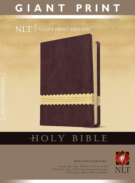 NLT Giant Print Bible-Wine/Gold TuTone | SHOPtheWORD