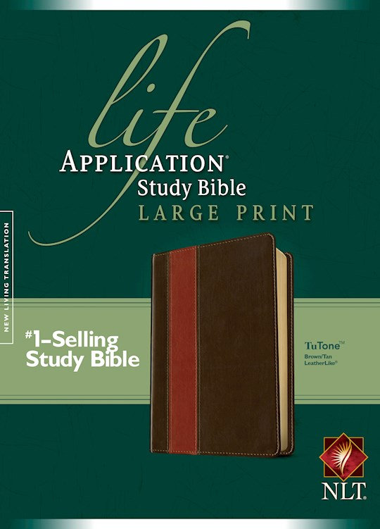 NLT Life Application Study Bible/Large Print-Brown/Tan TuTone | SHOPtheWORD