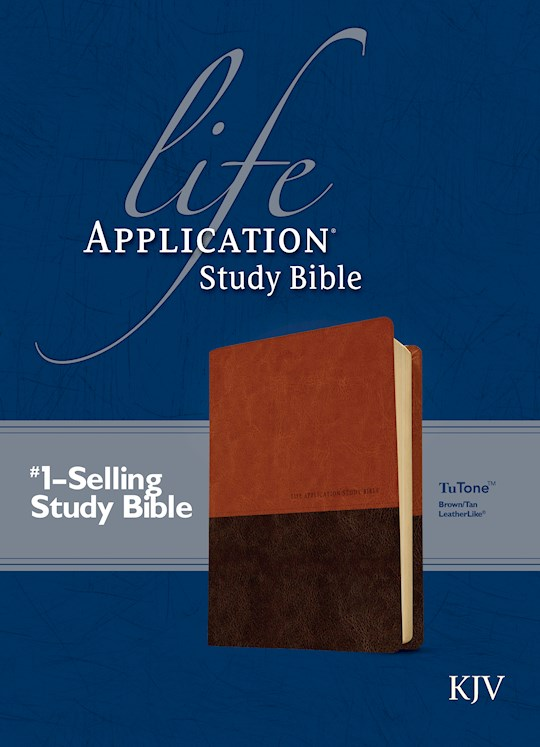 KJV Life Application Study Bible-Brown/Tan TuTone   SHOPtheWORD