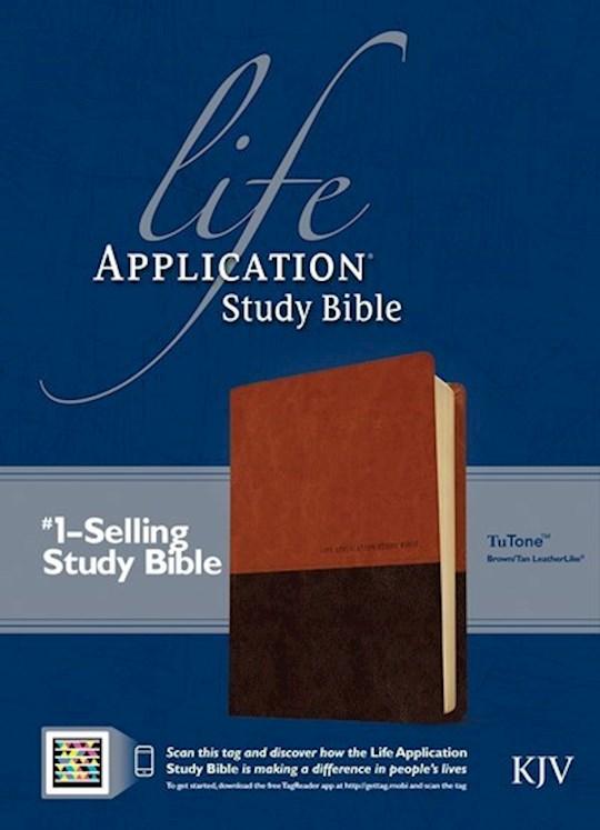 KJV Life Application Study Bible-Brown/Tan TuTone Indexed | SHOPtheWORD