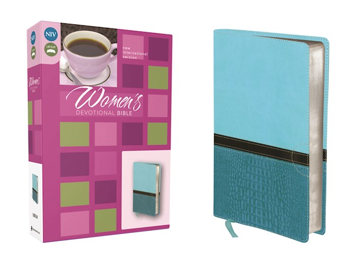 NIV Women's Devotional Bible-Turquoise/Caribbean Blue Duo-Tone | SHOPtheWORD