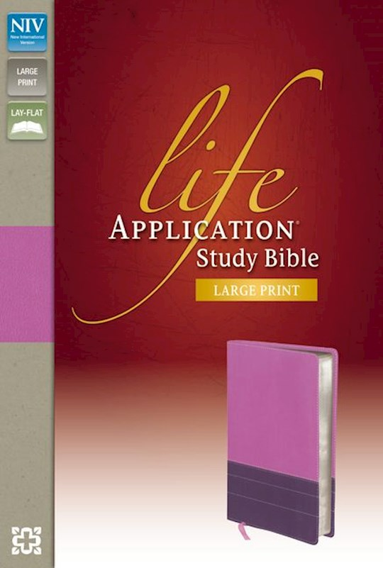 NIV Life Application Study Bible/Large Print-Orchid/Plum Duo-Tone Indexed | SHOPtheWORD