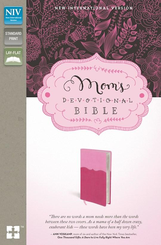 NIV Mom's Devotional Bible-Pink/Hot Pink Duo-Tone | SHOPtheWORD