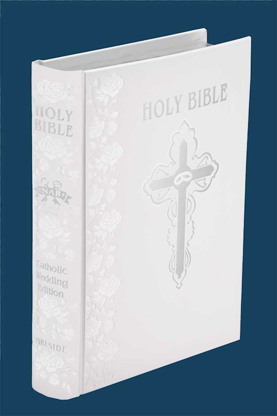 NABRE Catholic Wedding Bible-White Bonded Leather | SHOPtheWORD