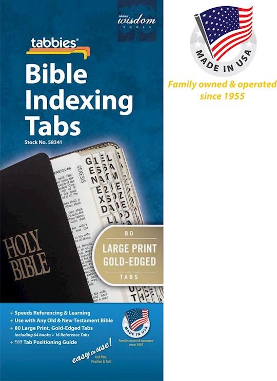 Bible Tab-Large Print O&N Testament-Gold | SHOPtheWORD
