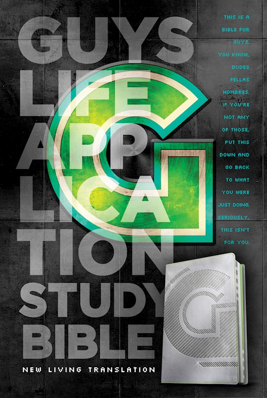 NLT Guys Life Application Study Bible-Iridium LeatherLike | SHOPtheWORD