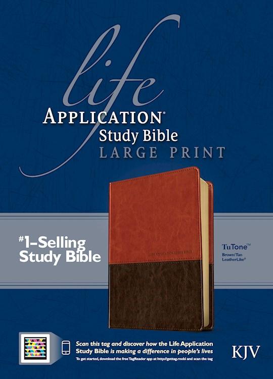 KJV Life Application Study Bible/Large Print-Brown/Tan TuTone   SHOPtheWORD