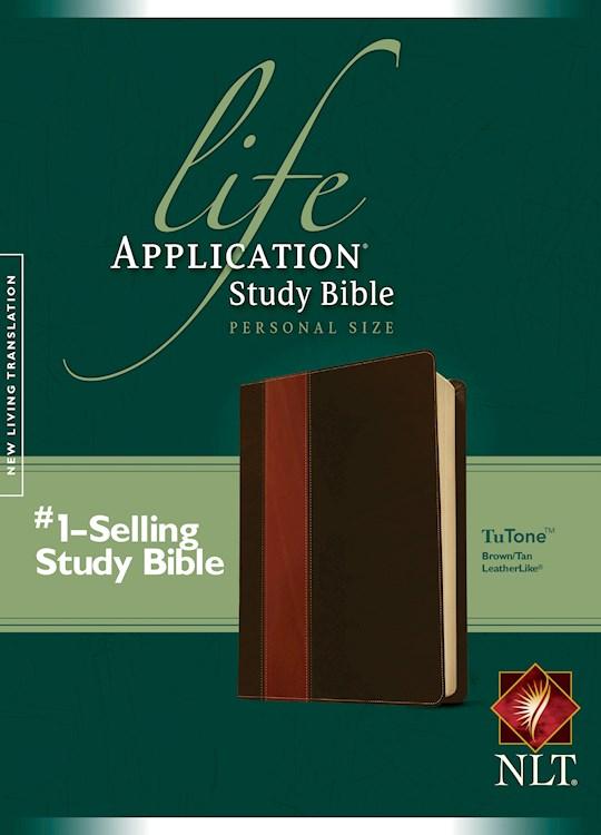 NLT Life Application Study Bible/Personal Size-Brown/Tan TuTone | SHOPtheWORD