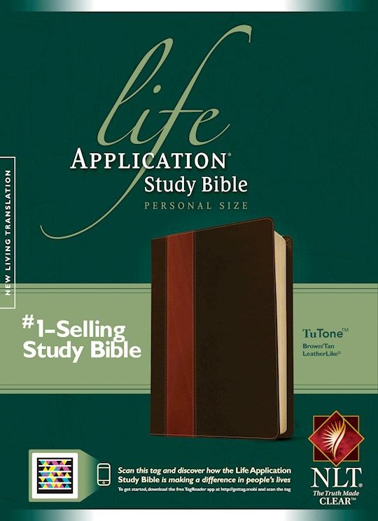 NLT Life Application Study Bible/Personal Size-Brown/Tan TuTone Indexed | SHOPtheWORD
