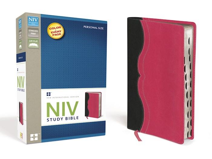 NIV Study Bible/Personal Size-Black/Pink Duo-Tone | SHOPtheWORD