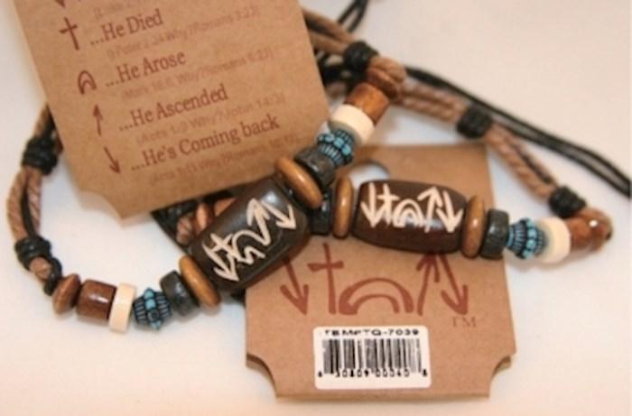 Bracelet-Witness Sky Bead-Rope/Bone/Wood | SHOPtheWORD