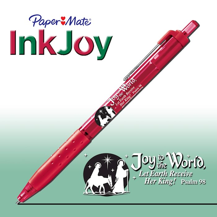Pen-Christmas-Paper Mate InkJoy-Joy To The World-Red | SHOPtheWORD