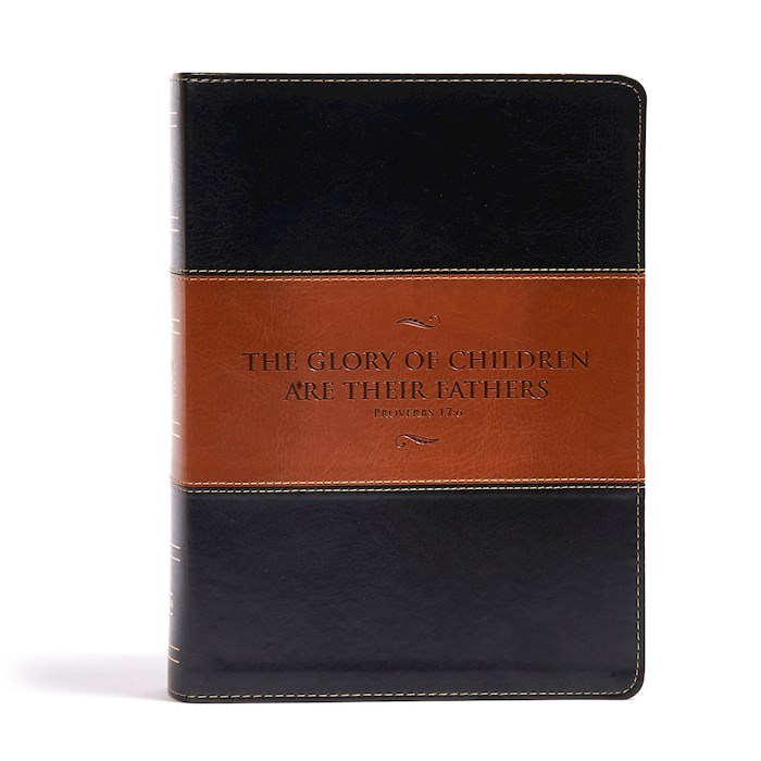 KJV Study Bible (Full-Color) (Father's Edition)-Black/Tan LeatherTouch | SHOPtheWORD