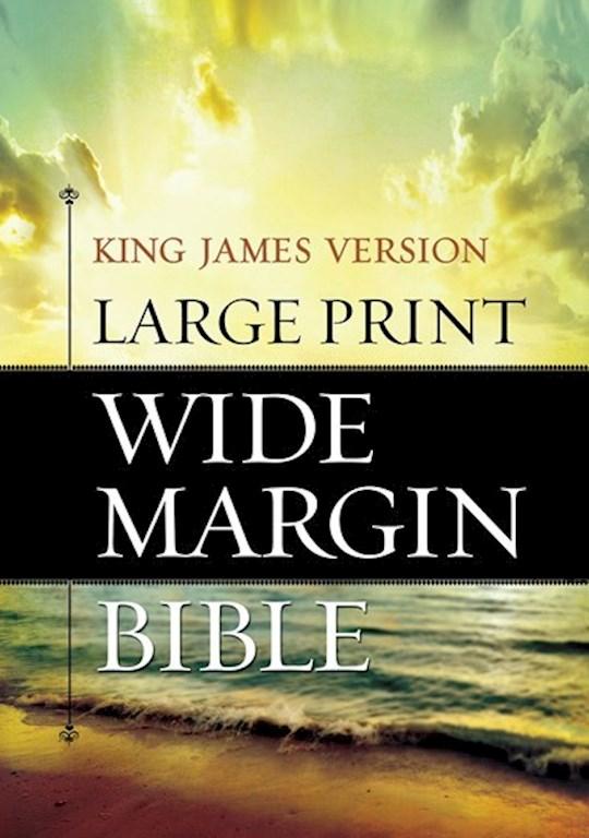 KJV Large Print Wide Margin Bible-Hardcover | SHOPtheWORD