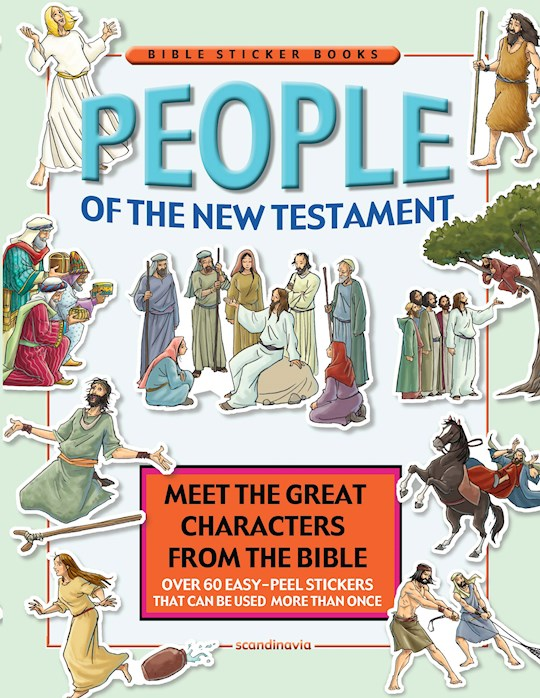 People Of The New Testament Reusable Sticker Book by Cecilie Vium | SHOPtheWORD
