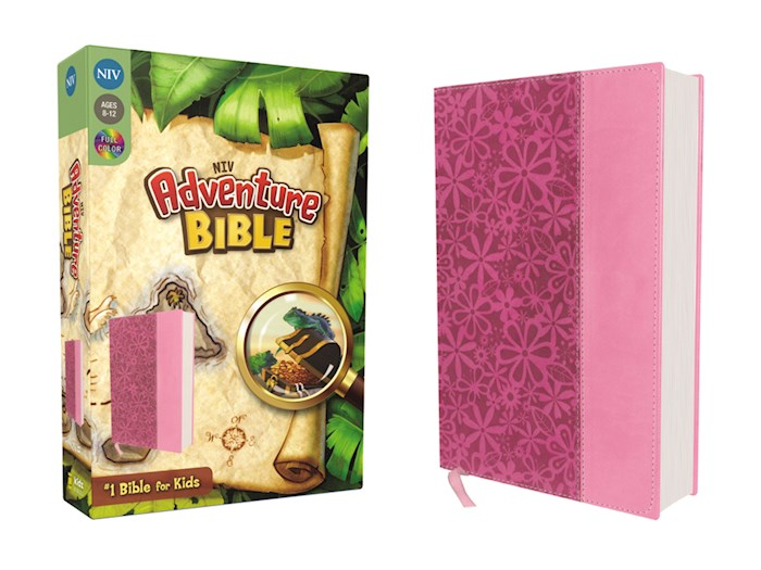 NIV Adventure Bible (Full Color)-Raspberry/Pink Duo-Tone | SHOPtheWORD