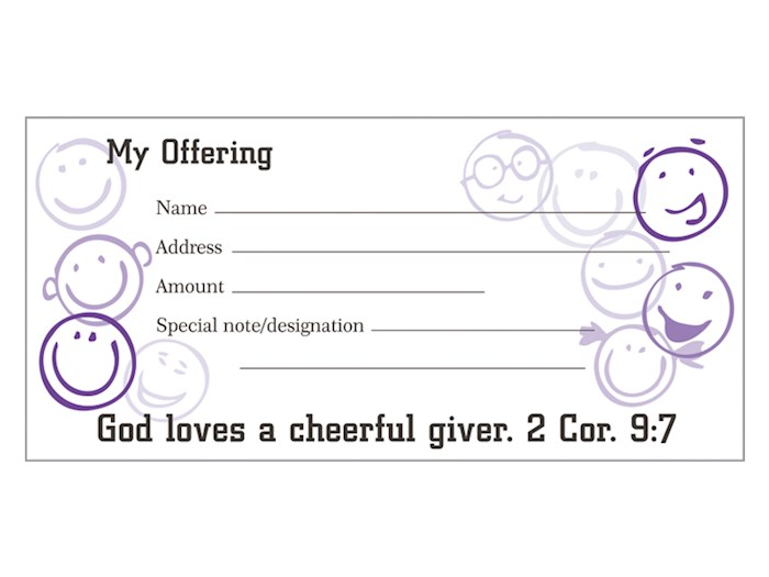Offering Envelope-Cheerful Giver (2 Cor 9:7) (Pack Of 100) | SHOPtheWORD
