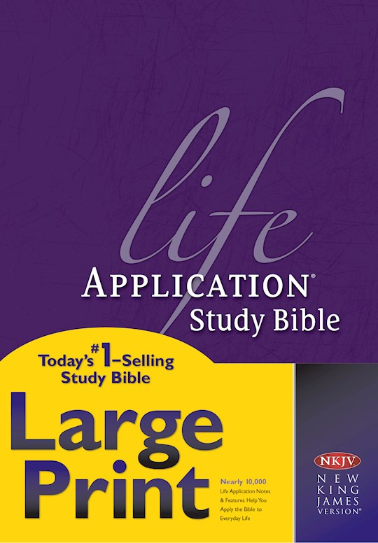 NKJV Life Application Study Bible/Large Print-Hardcover | SHOPtheWORD