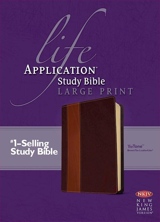 NKJV Life Application Study Bible/Large Print-Brown/Tan TuTone | SHOPtheWORD