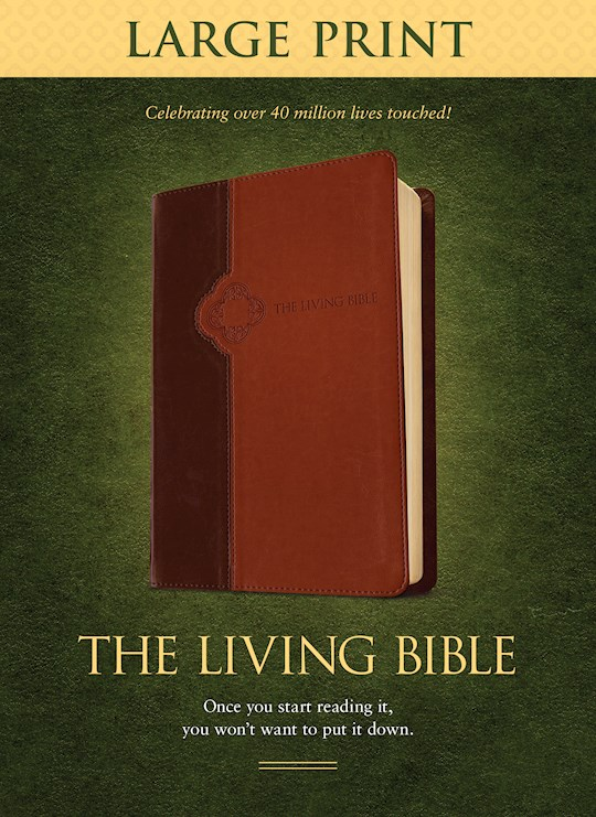 TLB The Living Bible/Large Print-Brown/Tan TuTone | SHOPtheWORD