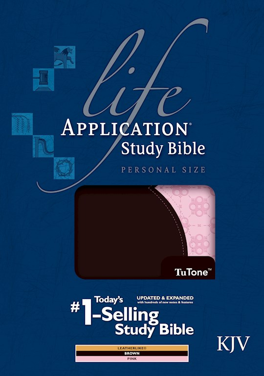 KJV Life Application Study Bible/Personal Size-Brown/Pink TuTone Indexed | SHOPtheWORD