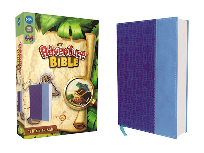 NIV Adventure Bible (Full Color)-Blue/Blue Duo-Tone | SHOPtheWORD